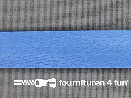 Rol 25 meter satijnen biasband 18mm hemels blauw