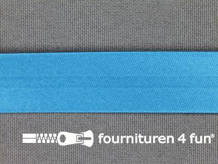 Satijnen biasband 18mm turquoise