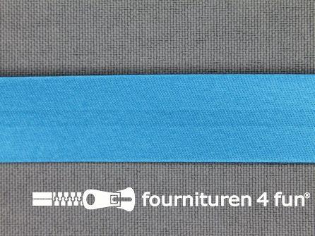 Rol 25 meter satijnen biasband 18mm turquoise