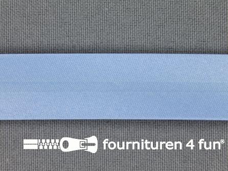 Satijnen biasband 18mm licht blauw