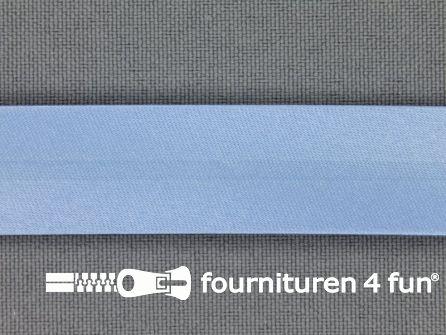 Rol 25 meter satijnen biasband 18mm licht blauw