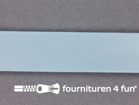 Satijnen biasband 18mm pastel blauw
