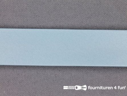 Rol 25 meter satijnen biasband 18mm pastel blauw