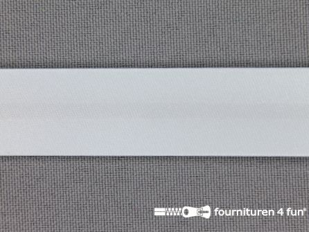 Satijnen biasband 18mm heel licht blauw