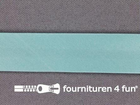 Satijnen biasband 18mm licht turquoise