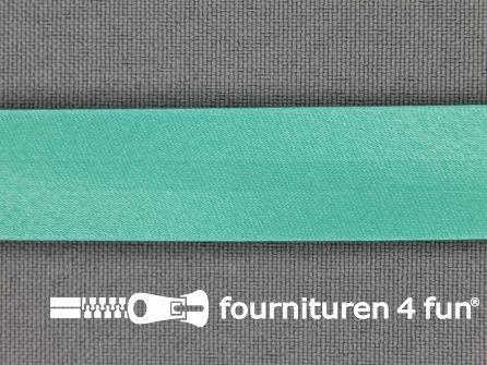 Satijnen biasband 18mm donker mint groen