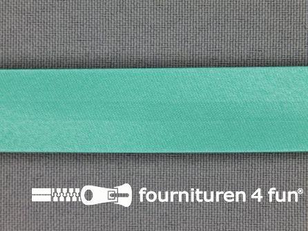 Rol 25 meter satijnen biasband 18mm donker mint groen