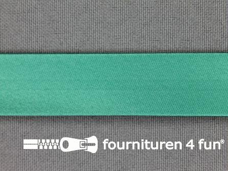 Satijnen biasband 18mm zee mintgroen