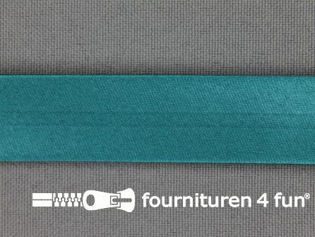 Satijnen biasband 18mm petrol groen