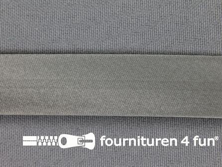 Satijnen biasband 18mm midden grijs