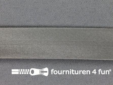 Rol 25 meter satijnen biasband 18mm midden grijs