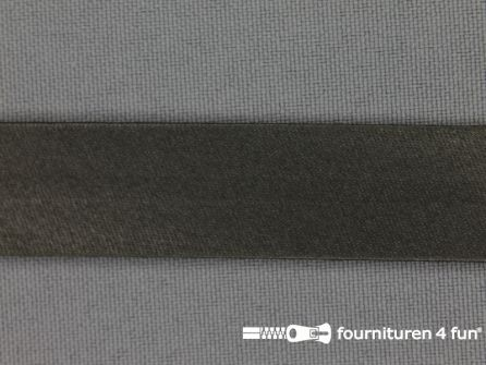 Satijnen biasband 18mm donker grijs