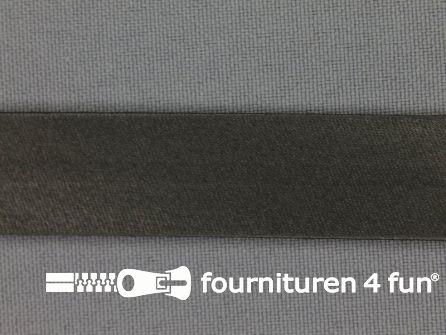 Rol 25 meter satijnen biasband 18mm donker grijs
