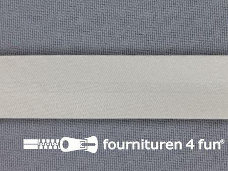 Satijnen biasband 18mm pastel grijs