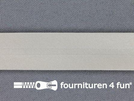 Rol 25 meter satijnen biasband 18mm pastel grijs