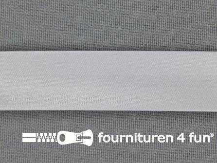 Satijnen biasband 18mm licht grijs