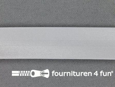 Rol 25 meter satijnen biasband 18mm licht grijs