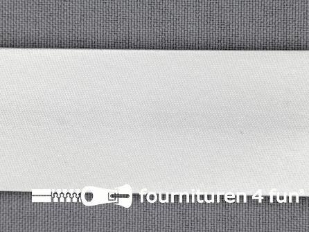 Satijnen biasband 30mm wit
