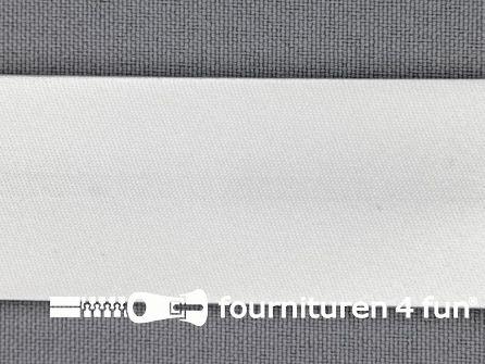 Rol 25 meter satijnen biasband 30mm wit