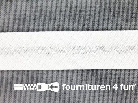 Rol 25 meter katoenen biasband 18mm wit
