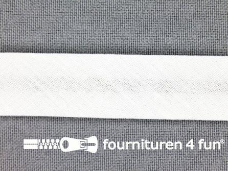 Rol 25 meter katoenen biasband 18mm off white