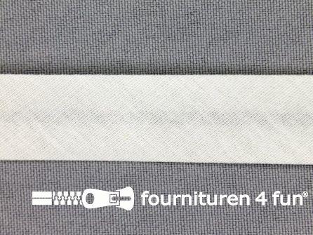 Rol 25 meter katoenen biasband 18mm heel licht grijs