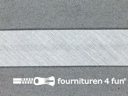 Rol 25 meter katoenen biasband 18mm midden grijs