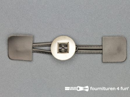 Siersluiting 35x180mm skai zwart - zilver