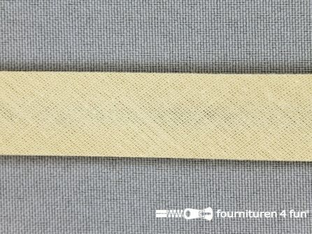 Rol 25 meter katoenen biasband 18mm beige
