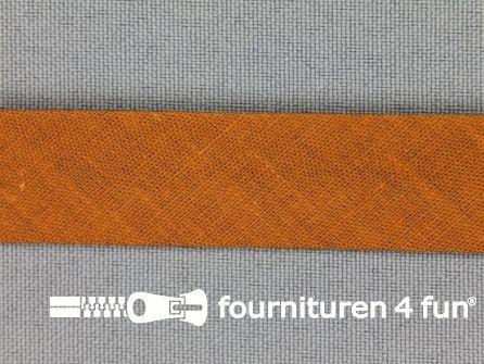 Rol 25 meter katoenen biasband 18mm kaneel rood