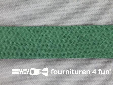 Rol 25 meter katoenen biasband 18mm emerald groen