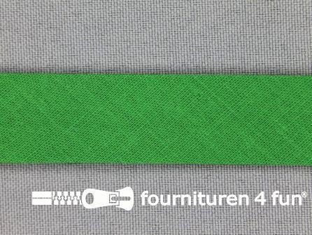 Rol 25 meter katoenen biasband 18mm gras groen