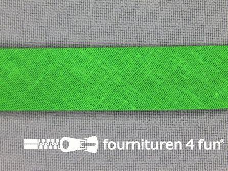 Rol 25 meter katoenen biasband 18mm helder groen