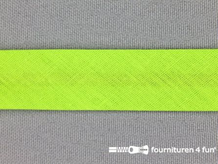 Rol 25 meter katoenen biasband 18mm lime groen