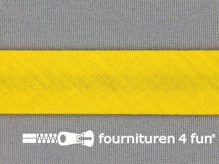 Rol 25 meter katoenen biasband 18mm honing geel
