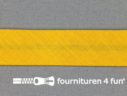 Rol 25 meter katoenen biasband 18mm mais geel