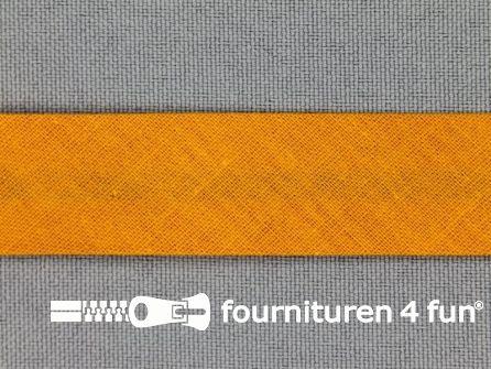 Rol 25 meter katoenen biasband 18mm oker-oranje