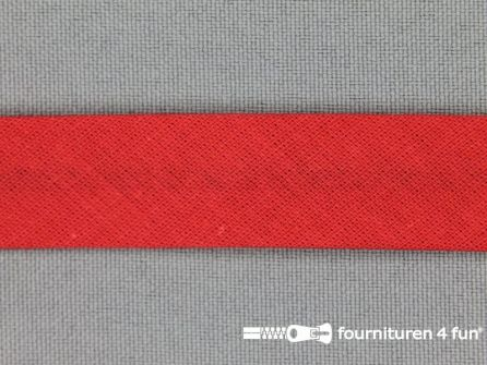 Rol 25 meter katoenen biasband 18mm warm rood