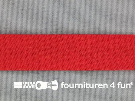 Rol 25 meter katoenen biasband 18mm rood