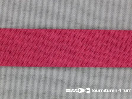 Rol 25 meter katoenen biasband 18mm donker  rood
