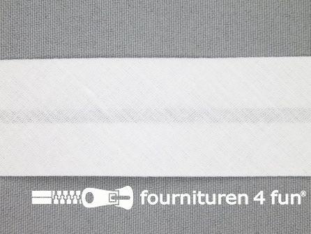 Rol 25 meter katoenen biasband 30mm wit
