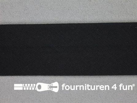 Rol 25 meter katoenen biasband 30mm zwart