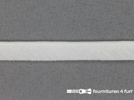 Katoenen paspelband 10mm wit