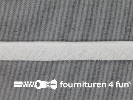 Rol 25 meter katoenen paspelband 10mm wit