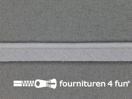 Katoenen paspelband 10mm licht grijs