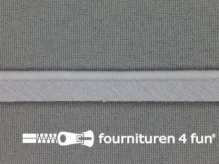 Rol 25 meter katoenen paspelband 10mm licht grijs