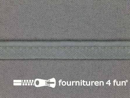 Katoenen paspelband 10mm grijs