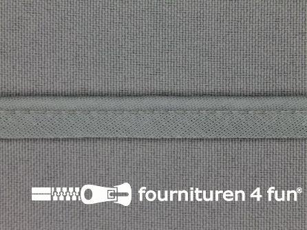 Rol 25 meter katoenen paspelband 10mm grijs