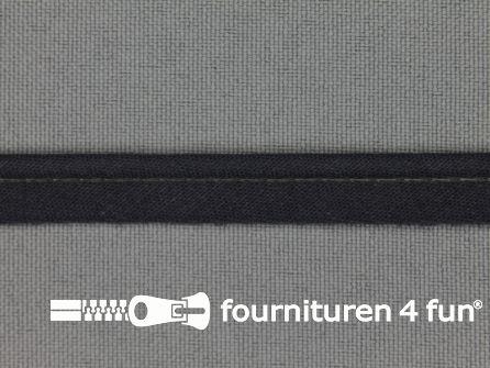 Katoenen paspelband 10mm donker grijs