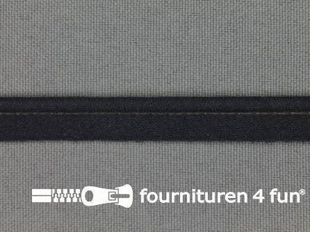Rol 25 meter katoenen paspelband 10mm donker grijs
